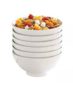 Stackable bowl 13.5 cm white