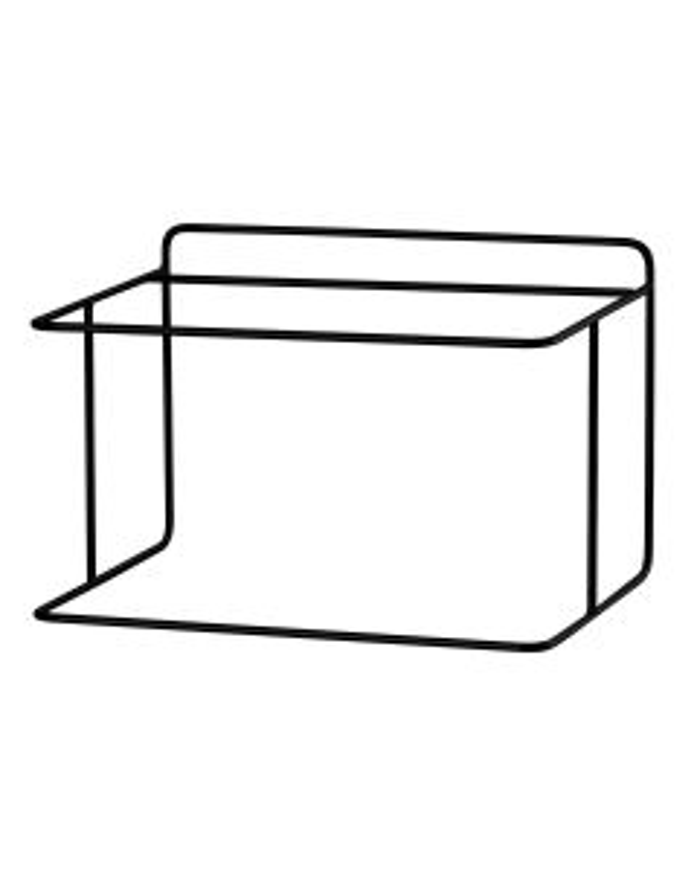 Black rectangular tray 42x30.8x29.8 cm