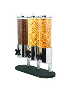 Stainless steel stand + tub + acrylic stand for cereal dispenser x3